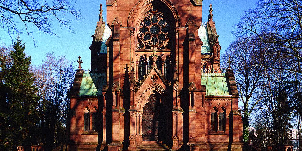 Die Großherzogliche Grabkapelle in Karlsruhe;  Foto: Staatliche Schlösser und Gärten Baden-Württemberg, Arnim Weischer