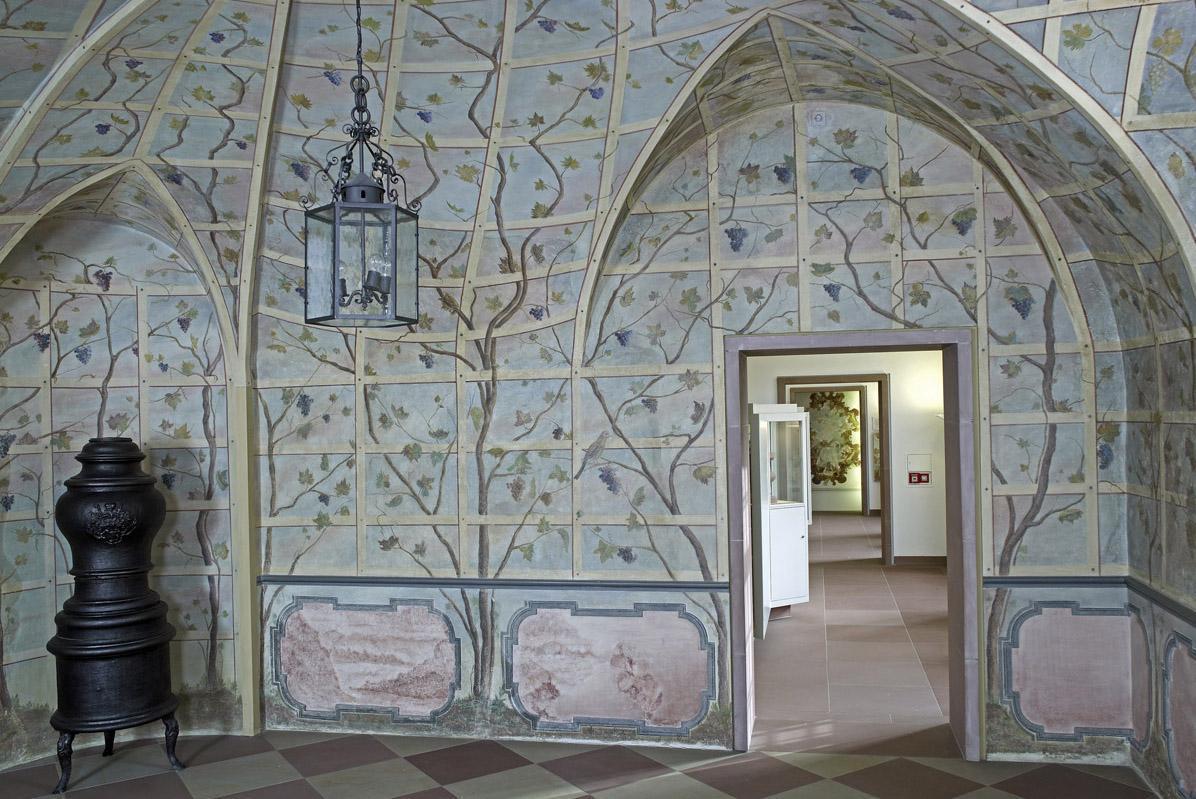 Schloss Bruchsal, Innen, Laubenzimmer; Foto: Staatliche Schlösser und Gärten Baden-Württemberg, Arnim Weischer