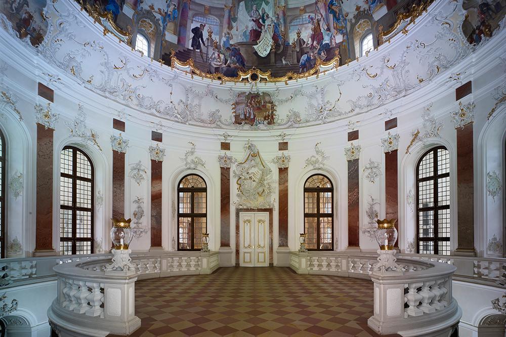 Kuppelsaal im Schloss Bruchsal; Foto: Staatliche Schlösser und Gärten Baden-Württemberg, Arnim Weischer