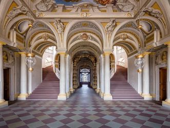 Bruchsal Palace, A look inside the vestibule