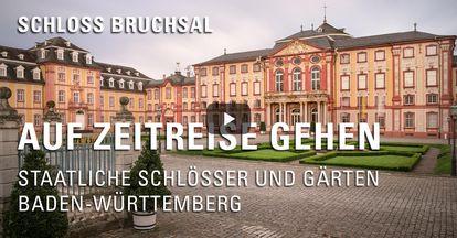 """Startbildschirm des Filmes """"Zeitreise mit Michael Hörrmann: Schloss Bruchsal"""""""