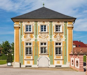 Bruchsal Palace, Illusion painting on the facade of the former Orangery; Image: Dr. Manfred Schneider, Nußloch, www.manfred-schneider.de