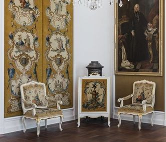 Schloss Bruchsal, Savonnerien im Musikzimmer