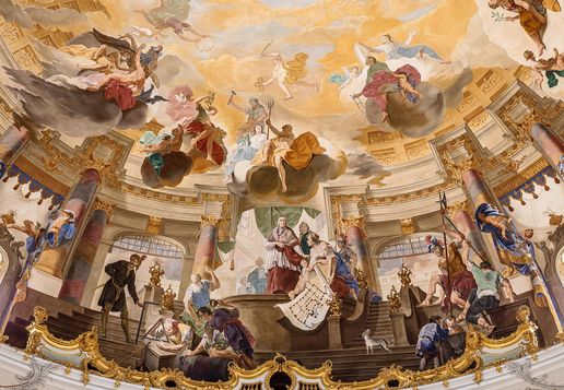 Bruchsal Palace, Painted ceiling in the domed hall