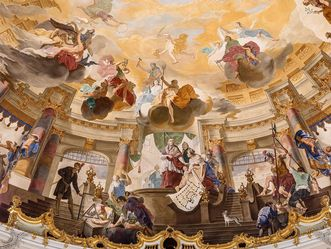Bruchsal Palace, Painted ceiling in the domed hall; Image: Dr. Manfred Schneider, Nußloch, www.manfred-schneider.de