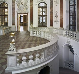 View of the Domed Hall in Bruchsal Palace. Image: Staatliche Schlösser und Gärten Baden-Württemberg, Andrea Rachele