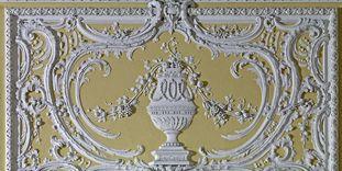 Stuckbild im Kammermusiksaal von Schloss Bruchsal