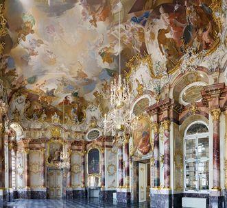 Marble Hall in Bruchsal Palace. Image: Staatliche Schlösser und Gärten Baden-Württemberg, Christoph Hermann