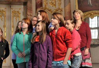 Visitors at Bruchsal Palace