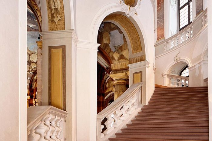 Bruchsal Palace, staircase