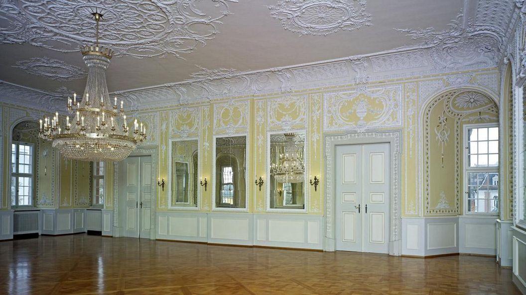 Salle de Musique de chambre du château de Bruchsal; crédit photo: Staatliche Schlösser und Gärten Baden-Württemberg, ArnimWeischer