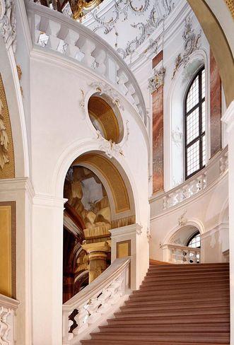 Château de Bruchsal Vue de l'escalier