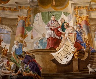 Bruchsal Palace, Ceiling Painting in the domed hall; Image: Dr. Manfred Schneider, Nußloch, www.manfred-schneider.de