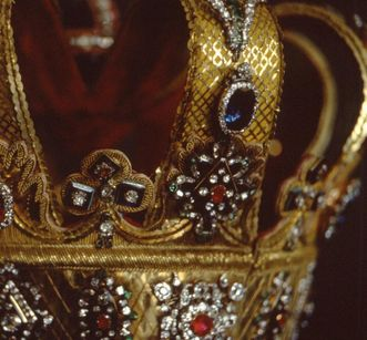 Detail of the crown of the Grand Duchy of Baden in 1811. Image: Staatliche Schlösser und Gärten Baden-Württemberg, Arnim Weischer