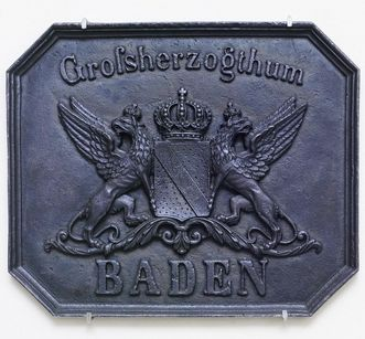Cast iron coat of arms of the Grand Duchy of Baden, 19th century. Image: Landesmedienzentrum Baden-Württemberg, Arnim Weischer
