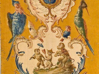 Schloss Bruchsal, Savonnerie Wandteppich um 1760
