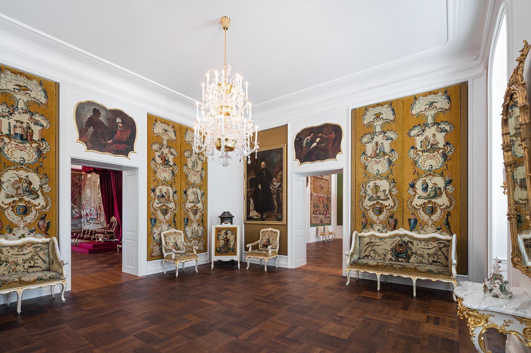 Schloss Bruchsal, Musikzimmer mit Savonnerien