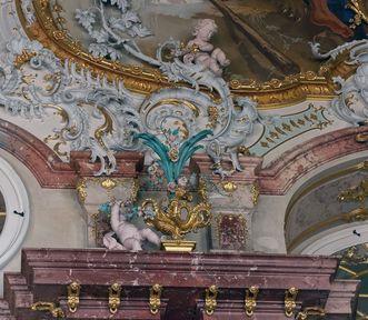 Schloss Bruchsal, Detail Stuck Marmorsaal