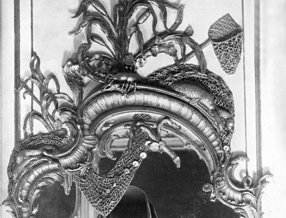 Spiegelrahmen aus dem Jagdzimmer, um 1870; Foto: Staatliche Schlösser und Gärten Baden-Württemberg, Arnim Weischer