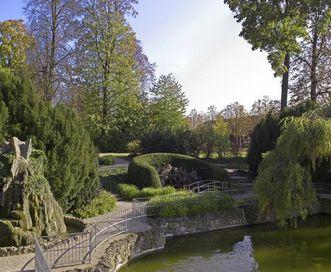 Bereich des Schlossgartens von Schloss Bruchsal; Foto: Staatliche Schlösser und Gärten Baden-Württemberg, Arnim Weischer