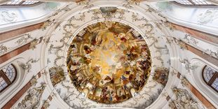 Bruchsal Palace, Ceiling painting in the Domed Hall
