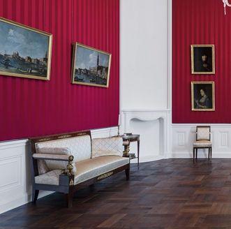 Schloss Bruchsal, Beletage, Appartement Amalie von Baden, Gemälde im Roten Salon