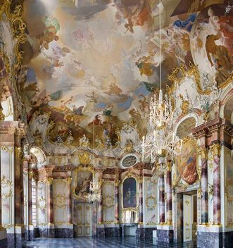 Bruchsal Palace, marble hall