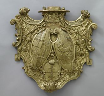 Wappenrelief um 1720/30 für Damian Hugo von Schönborn; Foto: Staatliche Schlösser und Gärten Baden-Württemberg, Arnim Weischer