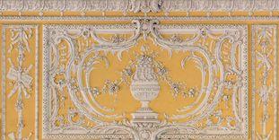Schloss Bruchsal, Kammerflügel, Kammermusiksaal, Stuckdekoration