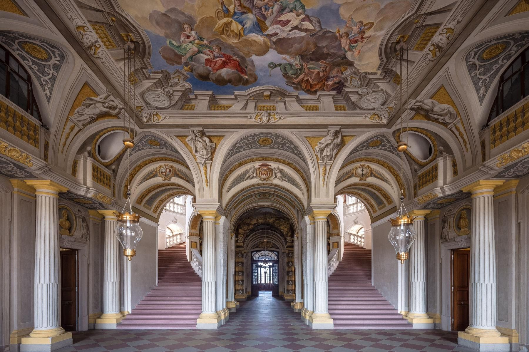 Bruchsal Palace, entrance hall
