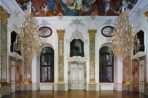Der Fürstensaal in Schloss Bruchsal;  Foto: Staatliche Schlösser und Gärten Baden-Württemberg, Arnim Weischer